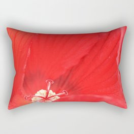 Red Hibiscus | Flower | Flowers | Nadia Bonello | Canada Rectangular Pillow