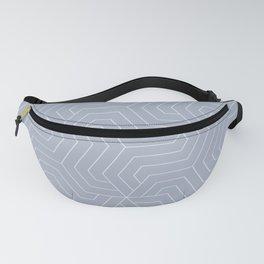 Cadet blue (Crayola) - grey - Modern Vector Seamless Pattern Fanny Pack