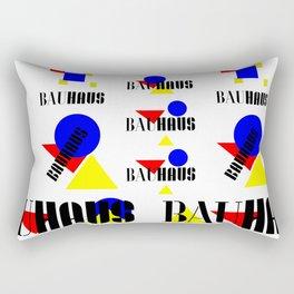 Bauhaus Geometric Shapes Rectangular Pillow