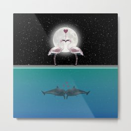 Love Under the Stars & UnderWater Metal Print