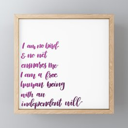 I am no bird Framed Mini Art Print