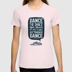 Platypus The Wise SMALL Womens Fitted Tee Light Pink