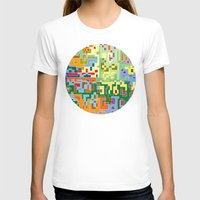 world maps T-shirts featuring Maps by Tony Vazquez