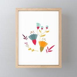 Colorful little spring flowers Framed Mini Art Print