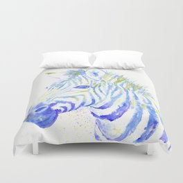 Quiet Zebra Duvet Cover