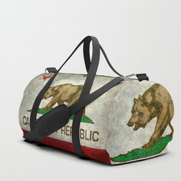 California Republic state flag Vintage Duffle Bag