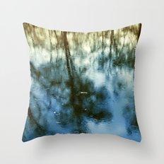 Pond Trees  Throw Pillow