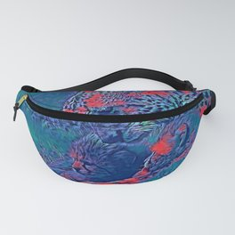 AnimalBlue_Cheetah_001_by_JAMColors Fanny Pack