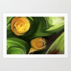 Surprise in the garden Art Print