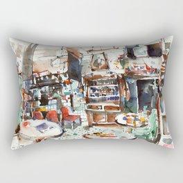 Old Tea Shop at No.17, Kuching Rectangular Pillow