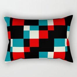 "Trendy Zeitgeist Geometric ""Saci"" Rectangular Pillow"