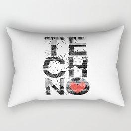 Love Techno Music Rectangular Pillow