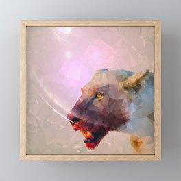 Feast of the Low Poly Lion Pride Framed Mini Art Print