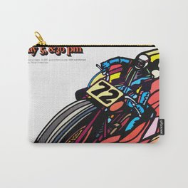 Vintage 70s Californian Race poster Carry-All Pouch