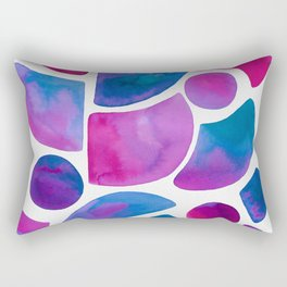 Watercolor Ink Shapes Rectangular Pillow