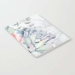 Pretty Succulents on Marble by Nature Magick Notebook