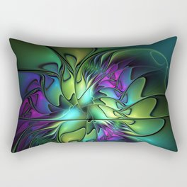 Colorful And Abstract Fractal Fantasy Rectangular Pillow