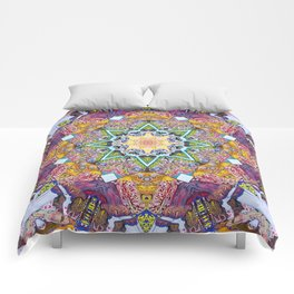 Symmetrical Colors Abstract Comforters