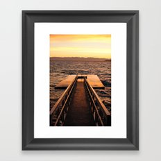 Willingdon Dock Framed Art Print