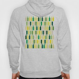 wine bottles pattern Hoody