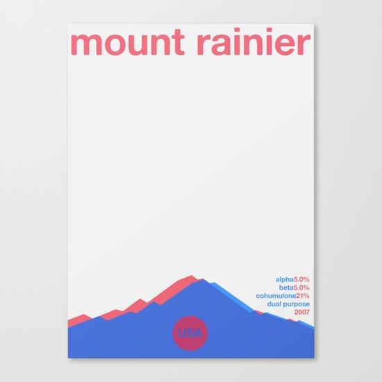 mount rainier single hop Canvas Print