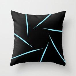 Circle Slats B&B Throw Pillow