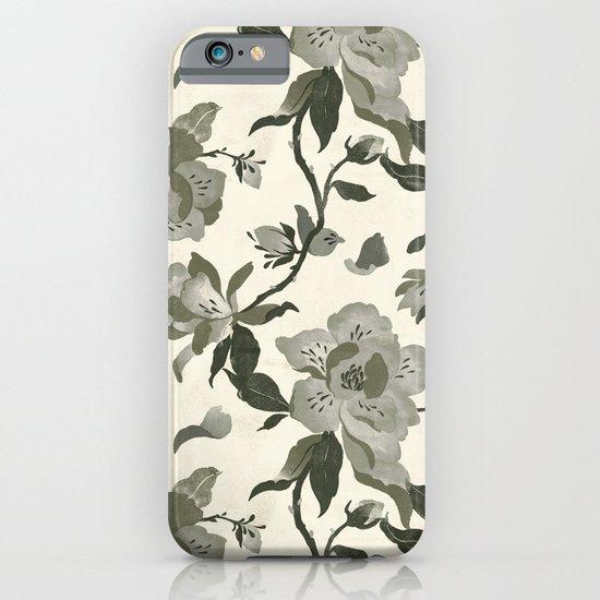 Black Magnolia Pattern iPhone & iPod Case