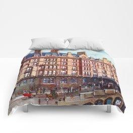 Vintage St Enoch railway station hotel Glasgow Comforters