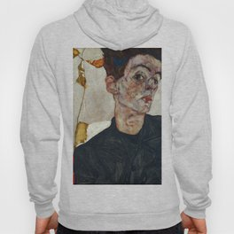 "Egon Schiele ""Self-Portrait with Physalis"" Hoody"