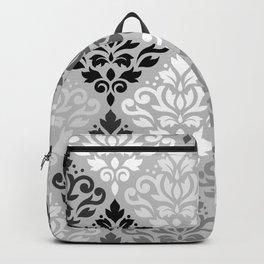 Scroll Damask Ptn Art BW & Grays Backpack