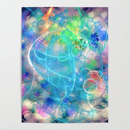 Neon Abstract Design 2 Poster