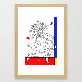 Floating With Colors Framed Art Print