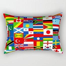 Flag Montage Rectangular Pillow