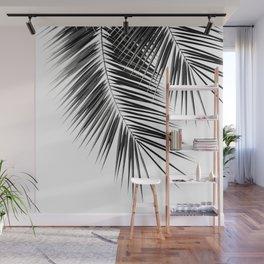 Black Palm Leaves Dream - Cali Summer Vibes #2 #tropical #decor #art #society6 Wall Mural