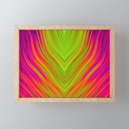 stripes wave pattern 3 w81 Framed Mini Art Print