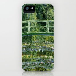 Water Lilies and Japanese Footbridge, Claude Monet iPhone Case