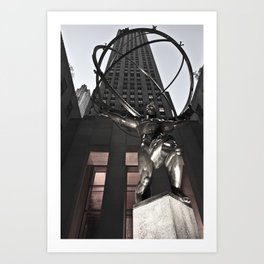 The Atlas From New york Art Print