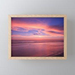 Pink Sky and Ocean Framed Mini Art Print