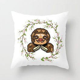 Sloth Love Throw Pillow