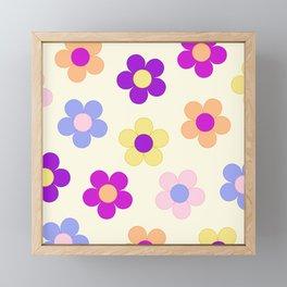 Flower Power Design Framed Mini Art Print