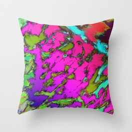 Shattering pink tigers Throw Pillow