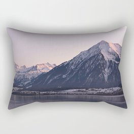 Panorama mountain scenery thun winter Rectangular Pillow