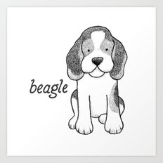 Dog Breeds: Beagle Art Print