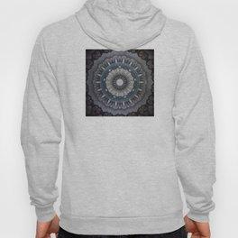 Gray metal Mandala Hoody