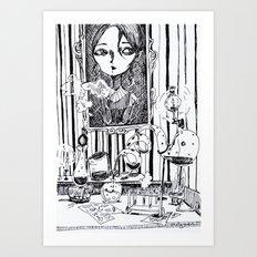 the study Art Print
