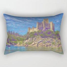Almourol, Knights Templar fort Rectangular Pillow