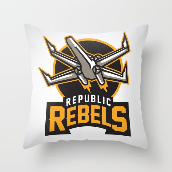Republic Rebels Throw Pillow