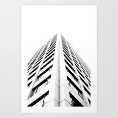 Keep Your Aim High (White Symmetry) Art Print