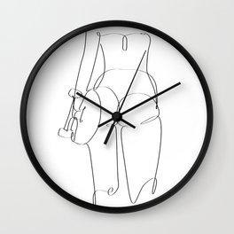 sk8 girl Wall Clock