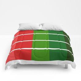 Christmas color bar Comforters